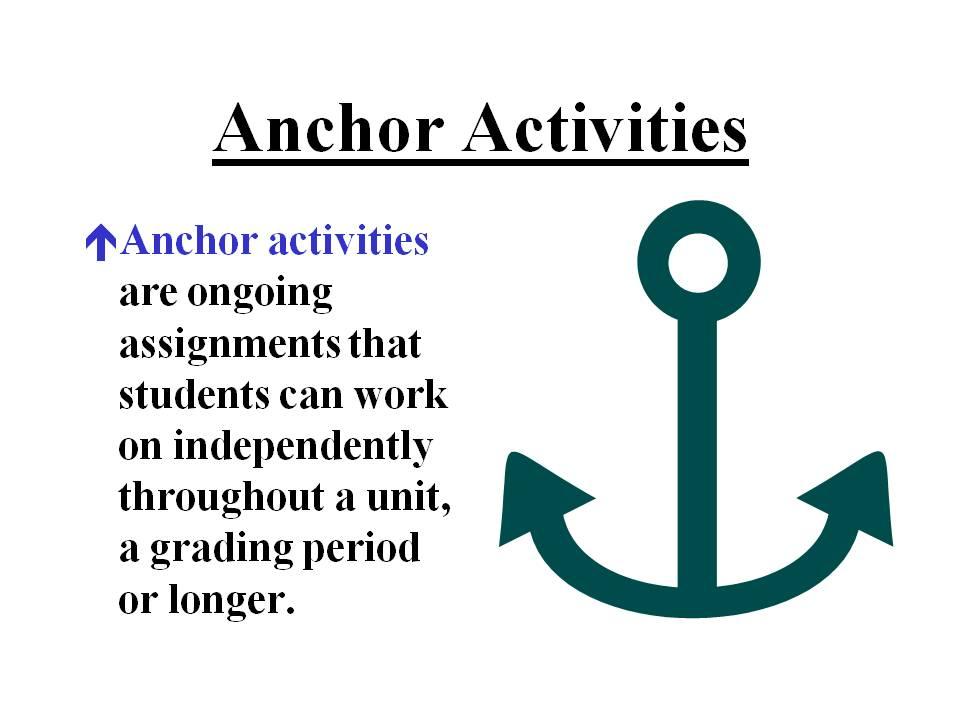 2differentiate / Anchor Activities